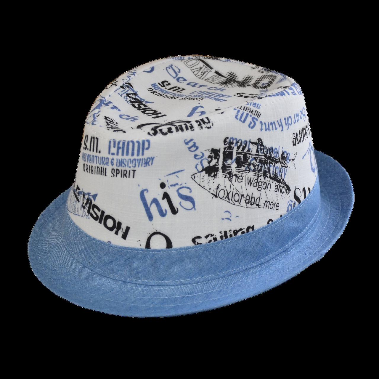 Шляпа челентанка комби 86 синий