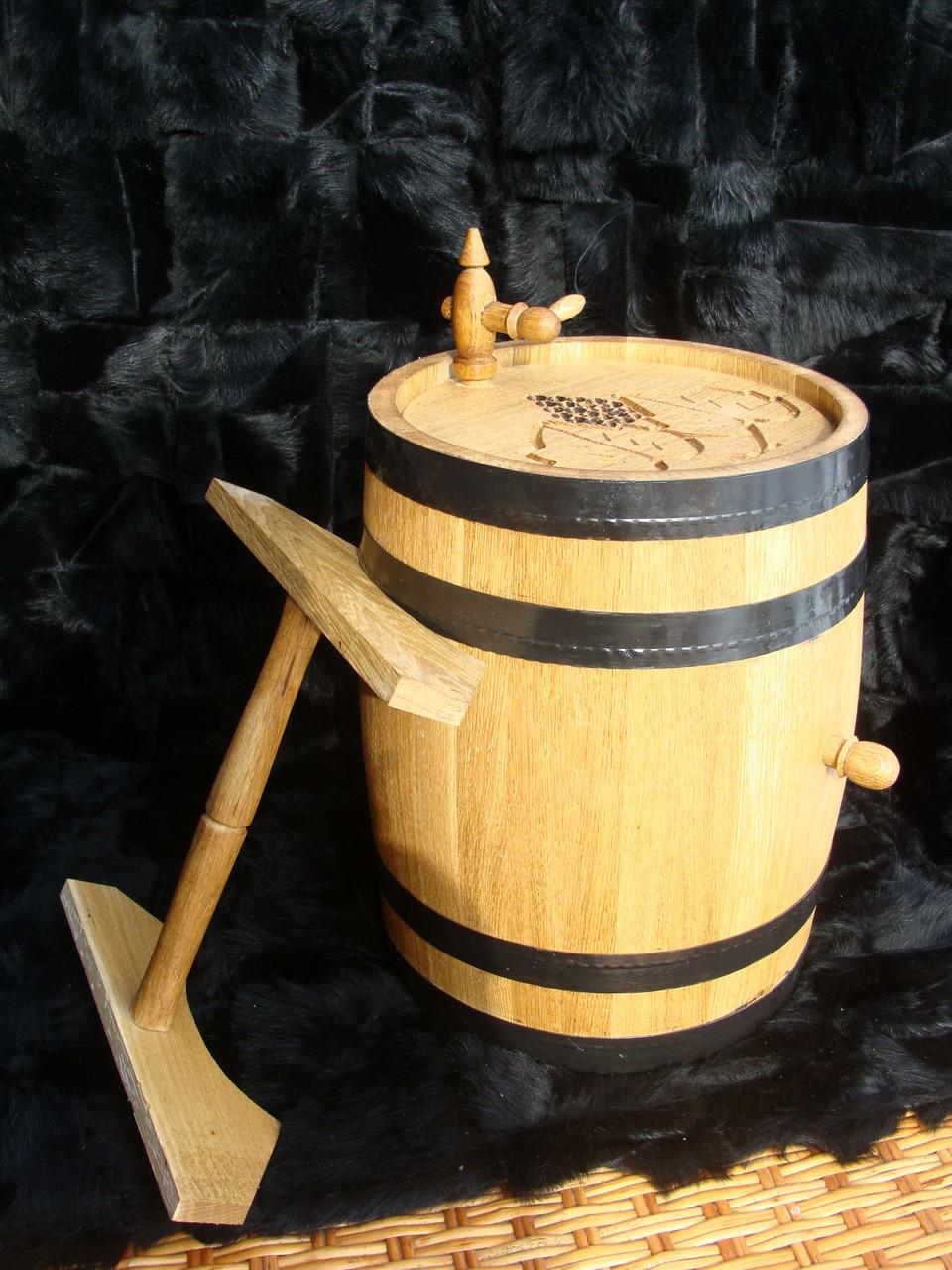 Дубовая бочка 25л для вина, коньяка, виски, рома