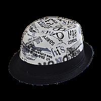 Шляпа челентанка комби 86 черный