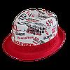 Шляпа челентанка комби 86 красный