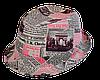 Шляпа челентанка комби бордовая газета