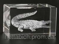 Крокодил голограмма в хрустале