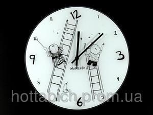 Часы настенные из стекла Лестницы - Интернет-магазин Счастливый Клуб в Киеве