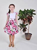 Платье-сарафан летний на девочку р.122 хлопок