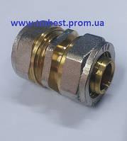Муфта(цанга) соединительная металлопластиковая диаметр26х26 NTM для соединения труб в системах.