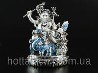 Статуя Дзамбала Белый на Драконе (Вайшравана)