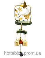"""Дверной колокольчик """"Цветок с бабочками"""""""