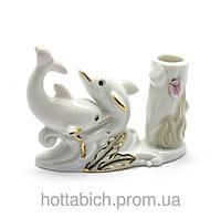 Дельфины  подставка для зубочисток фарфор