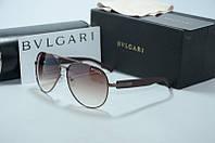 Солнцезащитные очки Bvlgari бронза, фото 1