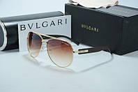 Солнцезащитные очки Bvlgari светло коричневые, фото 1