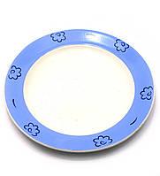 Тарелки с голубой каемочкой фаянсовые Набор тарелок  6 шт.