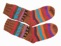 Вязанные носки +из шерсти Ручная вязка в ассортименте