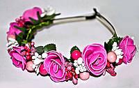 Современный обруч с цветами для девушки