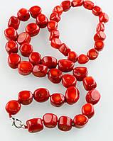 Женский набор украшений из натурального коралла