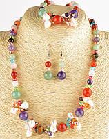 Женские украшения на подарок из камня самоцветы