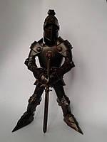 Фигура Рыцаря из латуни 44 см, ручная работа