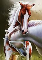 """Схема для вишивки бісером два коні """"Зустріч"""""""