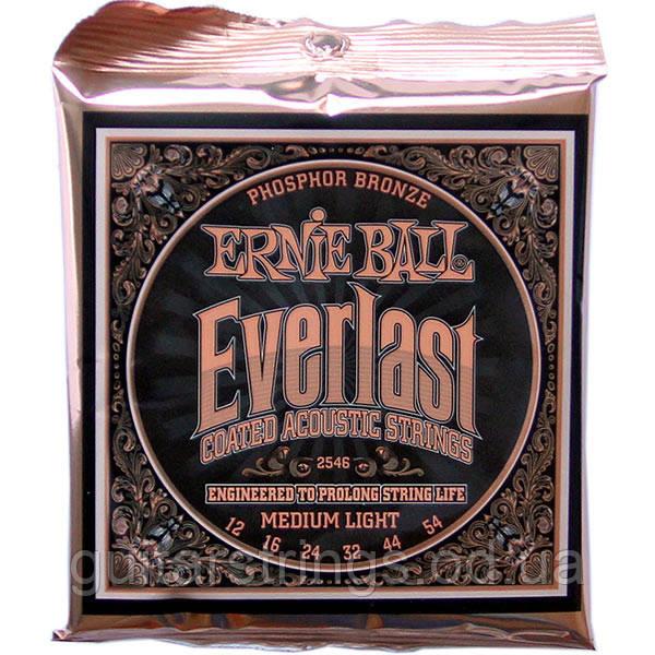 Струны Ernie Ball 2546 Everlast Phosphor Bronze 12-54 Medium Light