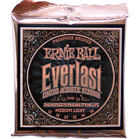 Струны Ernie Ball 2546 Everlast Phosphor Bronze 12-54 Medium Light, фото 1