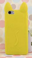 Чехол силиконовый Желтый кот iphone 5/5S силикон, фото 1