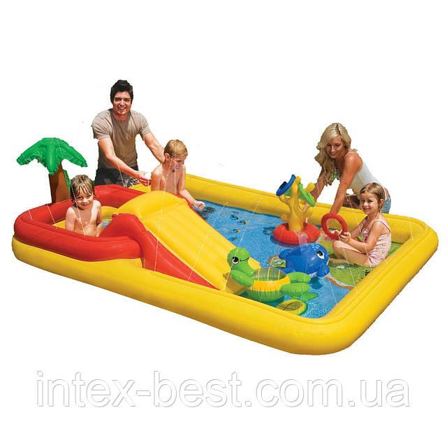 """Детский надувной игровой центр """"Океан"""" Intex 57454 (254х196х79 см.)"""
