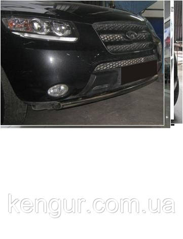 Кенгурятник на Hyundai Santa Fe- дуга по бамперу