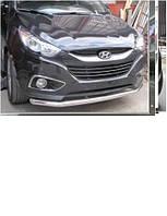 Одинарный ус по бамперу Hyundai ix 35