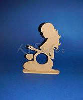 Рамка для снимка УЗИ Девочка с сердечком (заготовка для декора)