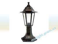 Светильник садово-парковый столбик Кантри НГ 06 матовое стекло медь