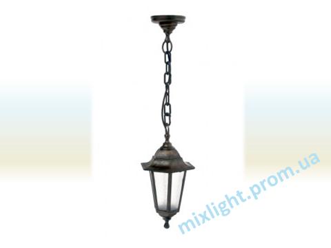 Светильник подвесной садово-парковый Кантри НЛ 06 матовое стекло медь