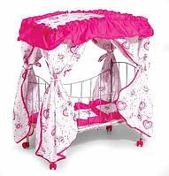 Кровать для кукол металлическая Melogo (Metr+) 9350