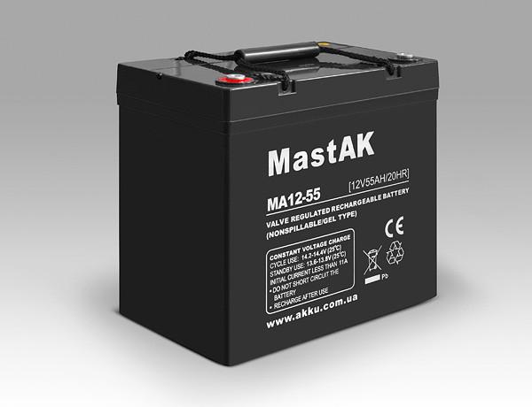 Аккумулятор MastAK MA12-55 (12v 55Ah)