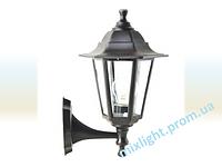 Садово-парковый светильник Кантри НБУ 06 НС 04 черный алюминиевый прозрачное стекло