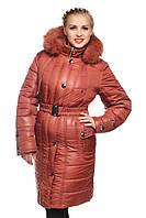 Зимние длинные куртки-баталы.