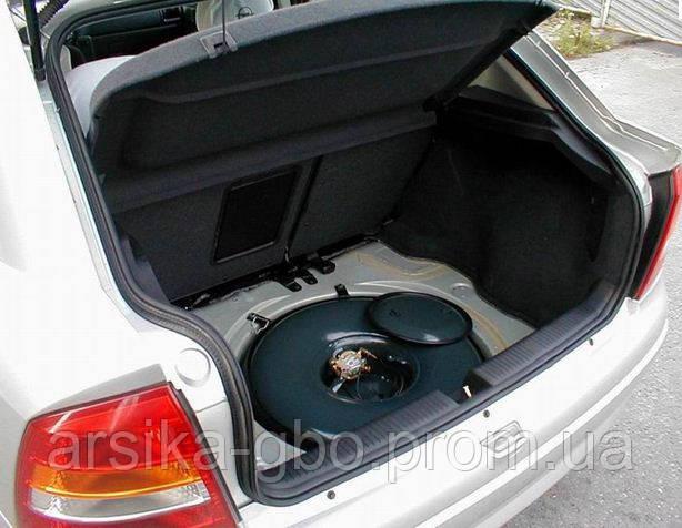 Тороидальный баллон ГБО в багажник