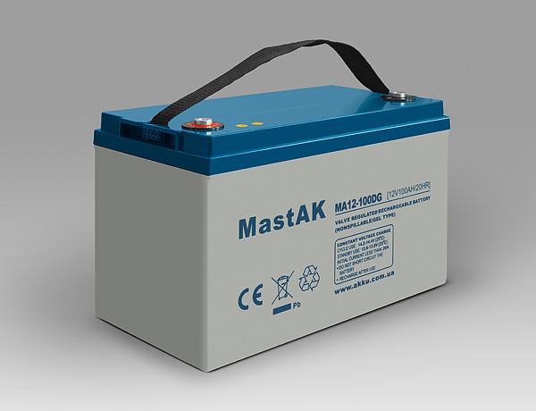 Аккумулятор гелевый MastAK MA12-100DG ( 12v 100Ah )