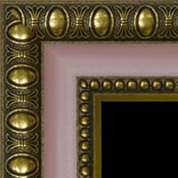 Багетная рама под заказ 1226-pink-gold (ширина профиля 45 мм). Для икон, картин, зеркал, фотографий