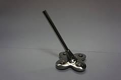 Каблук металлический МЦ серебро