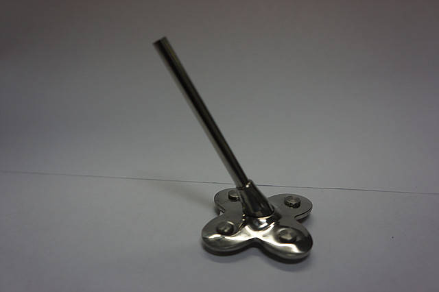 Каблук металлический МЦ серебро , фото 2