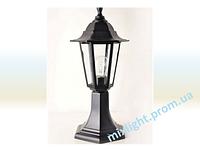 Светильник столбик садово-парковый Кантри НТУ 06 НГ 06 черный алюминиевый прозрачное стекло