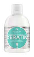 """Шампунь """"Kallos Keratin"""" с молочным протеином и кератином для сухих и поврежденных волос 1000 мл."""