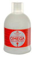 Восстанавливающий шампунь Kallos для безжизненных, секущихся волос с комплексом Омега-6