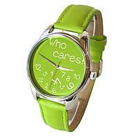 Наручные часы «Who cares» салатовый, фото 1