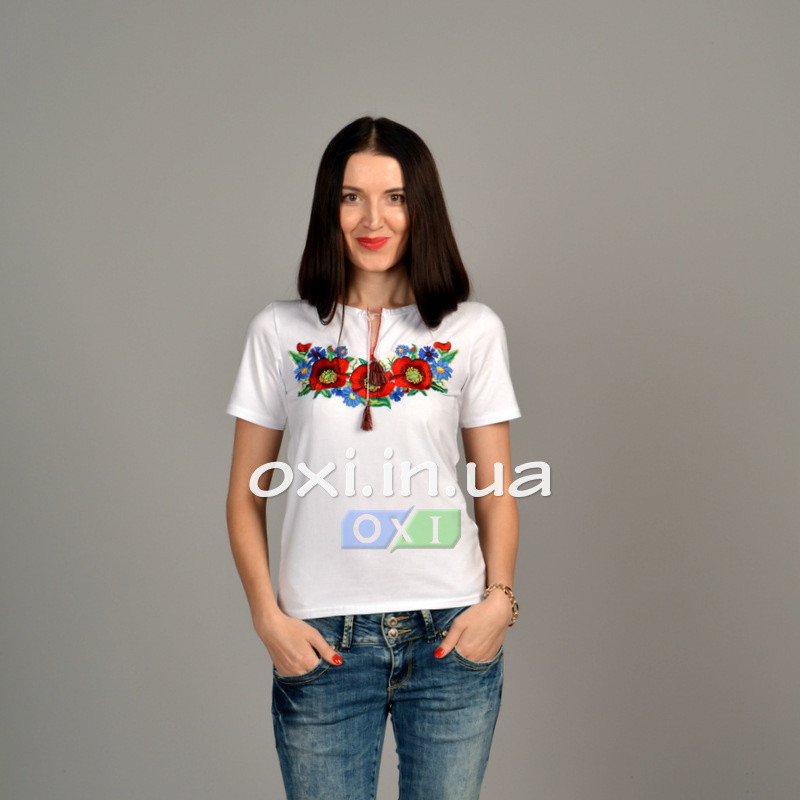 """Футболка вышиванка """"Соломия"""" белая KRAYKA"""
