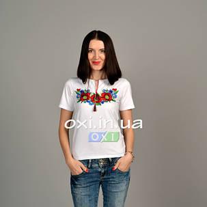 "Футболка вышиванка ""Соломия"" белая KRAYKA, фото 2"