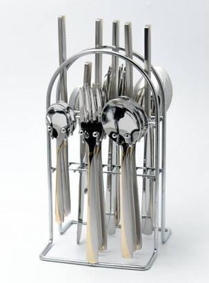 Набор столовых предметов на стойке (24пр.) Maestro MR-1529, фото 2