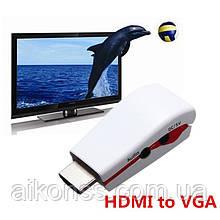 Якість . Конвертер HDMI - VGA аудіо + дод. живлення від USB . PS4