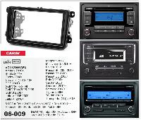2-DIN переходная рамка VOLKSWAGEN Caddy 2004+; EOS, Sagitar 2006+; Golf VI, Passat CC,Scirocco...,CARAV 08-009