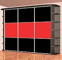 Шкаф ― купе 220 см лакобель с подсветкой + уголками, фото 1