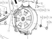 Бак 730112604500  задняя половина для стиральных машин Атлант